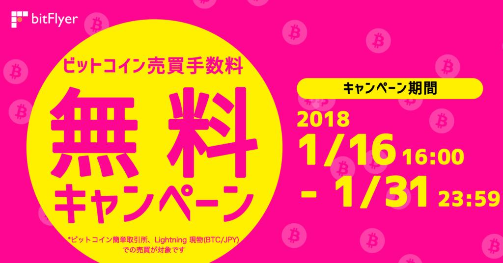 ビットコイン売買手数料無料キャンペーン
