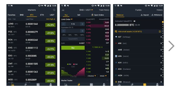 Binance UI app